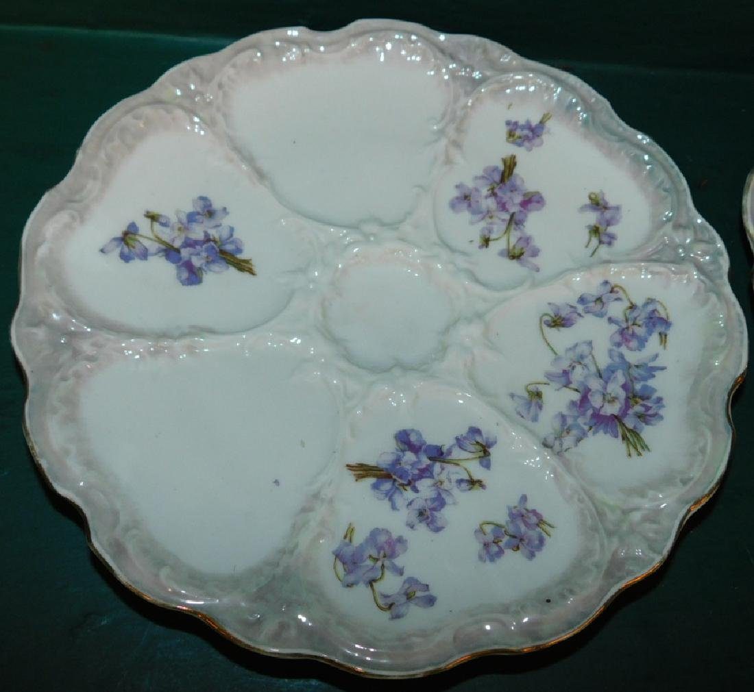8 German oyster plates - 3