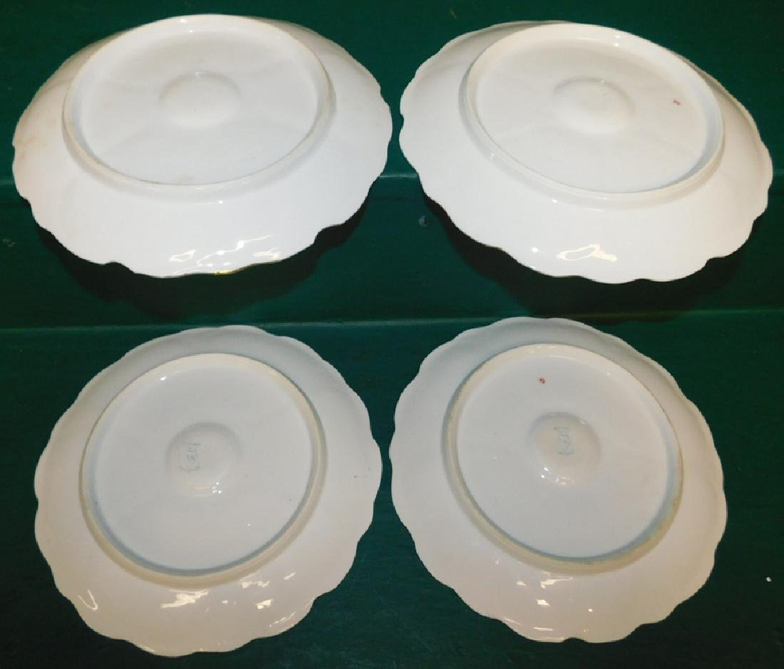 4 German oyster plates - 2