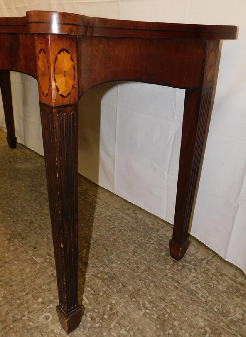 Serpentine front Hepplewhite mah console - 3