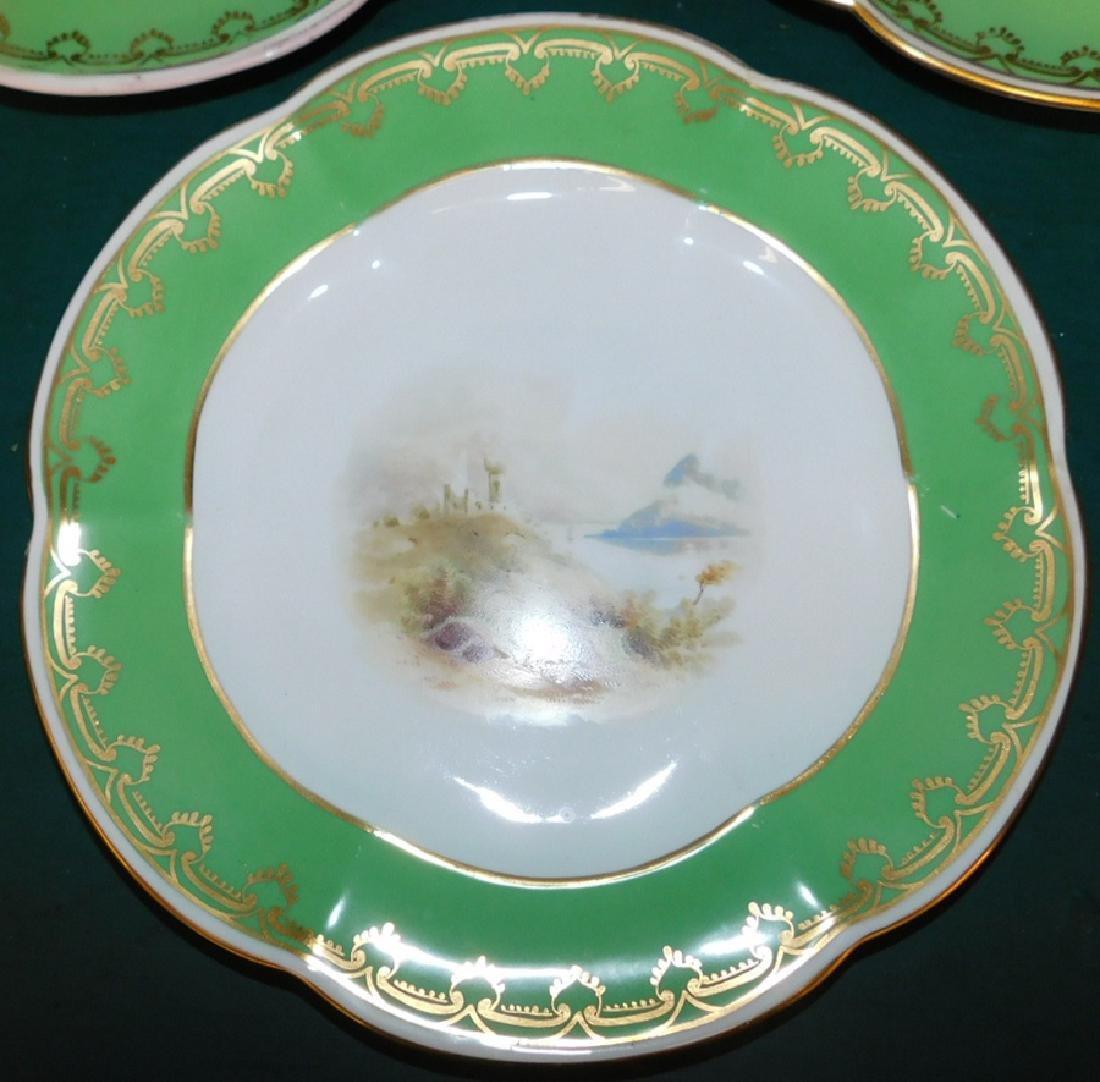 Set of 5 Old Paris plates - 2