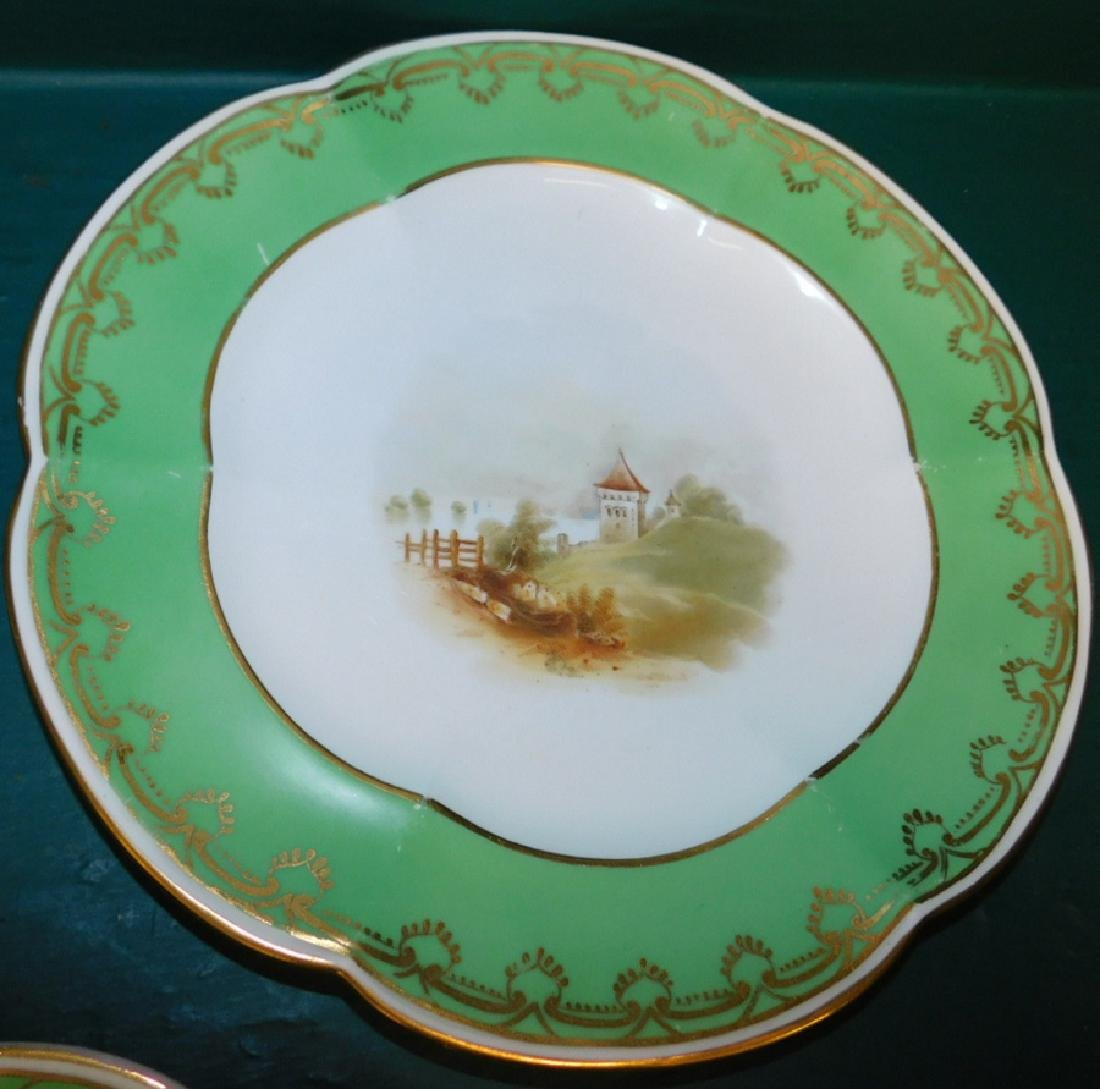 Set of 5 Old Paris plates - 3