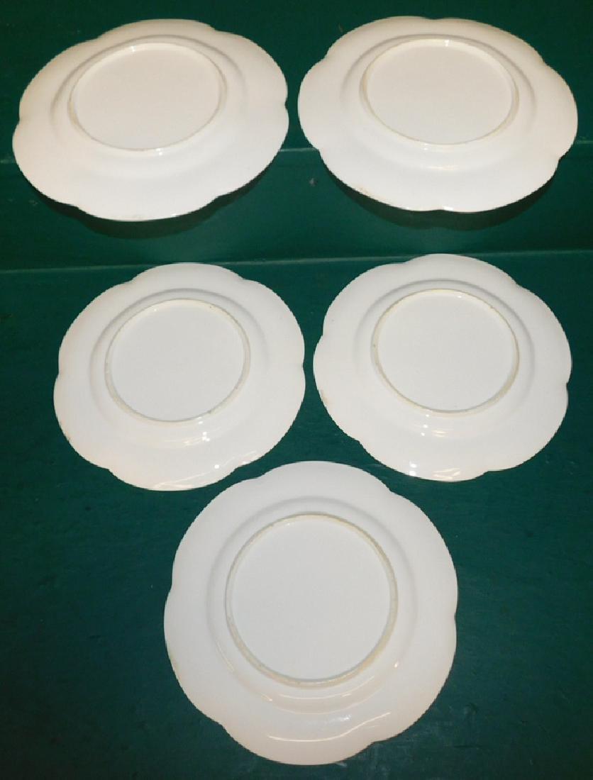 Set of 5 Old Paris plates - 4