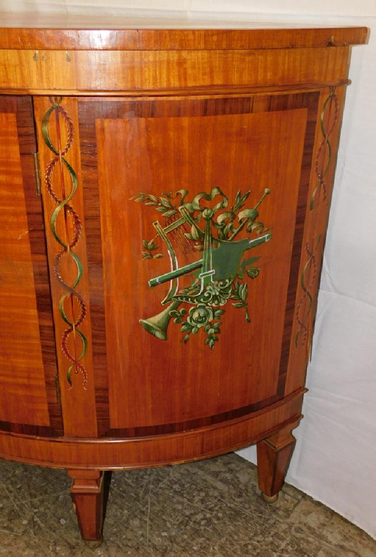 Paint decorated Adams style commode - 3