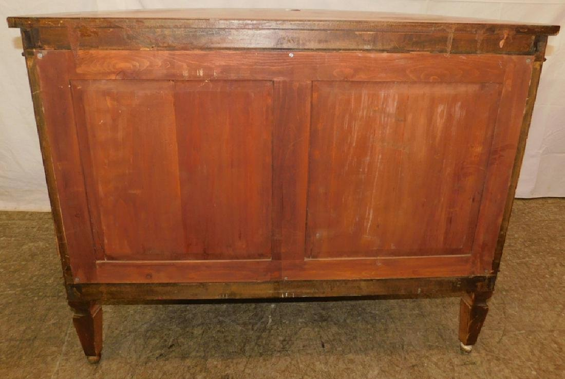Paint decorated Adams style commode - 7