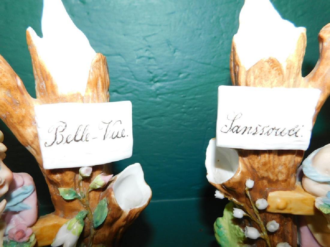 Pair of porcelain spill vases - 2