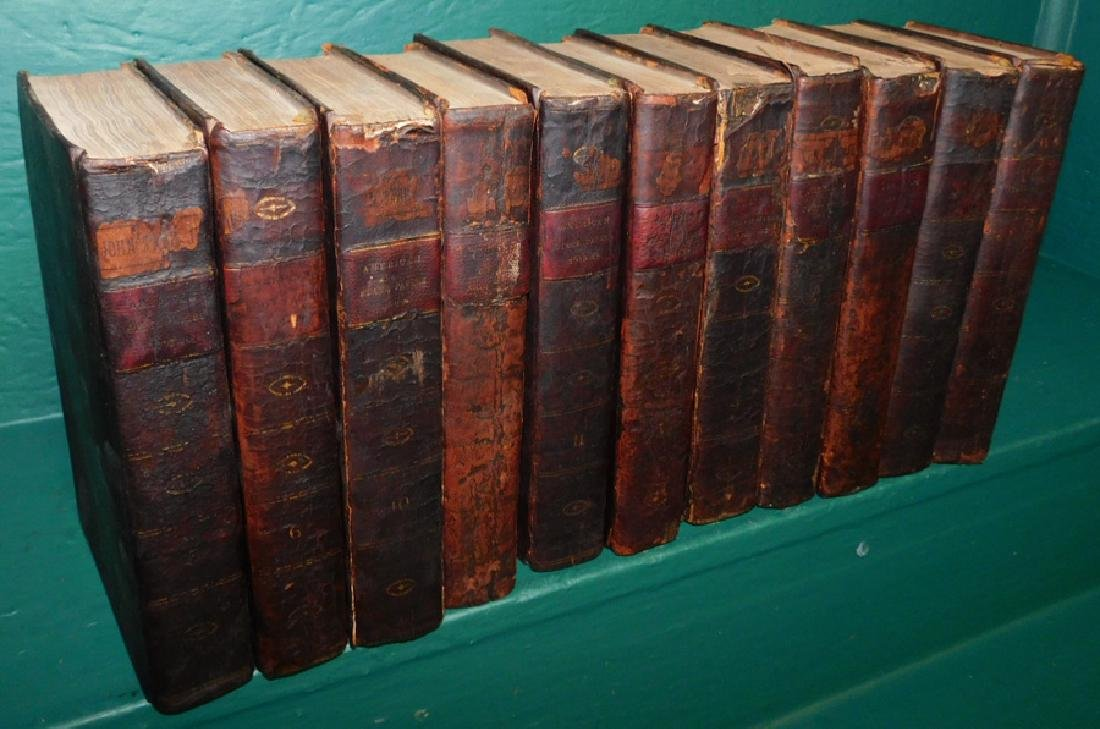 11 leather bound books dated 1819 series