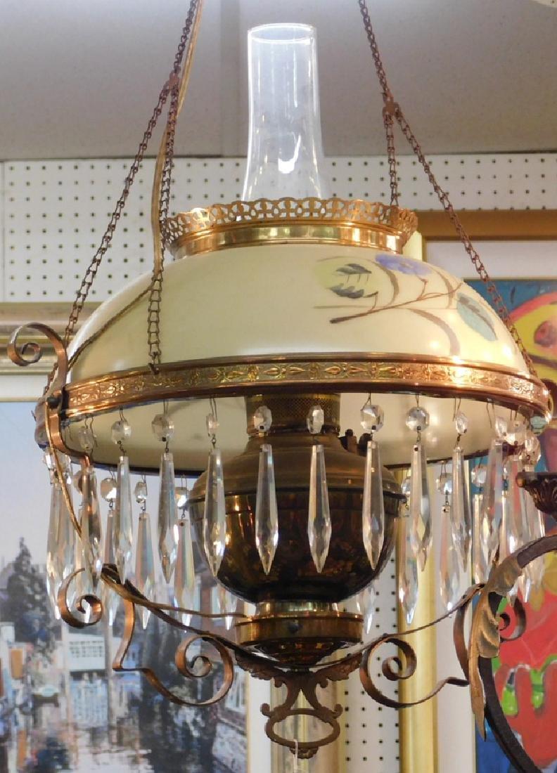 Hanging Victorian pull down chandelier