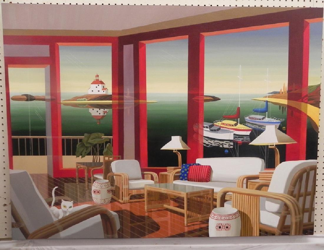 Datian oil on canvas of sun room