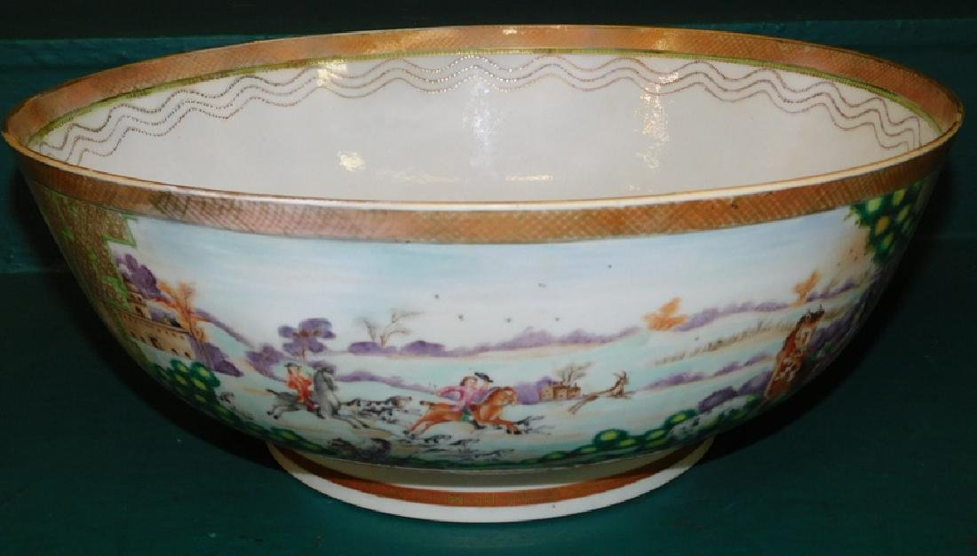 Mid 18th C Ching Dynasty Chinese export bowl
