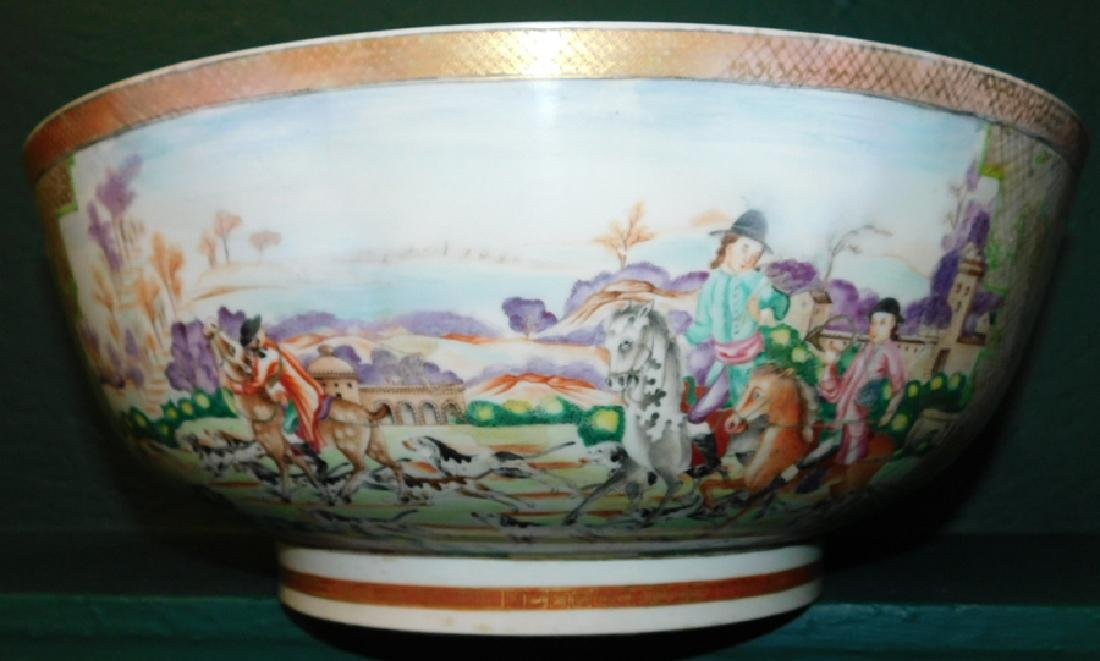 Mid 18th C Ching Dynasty Chinese export bowl - 6