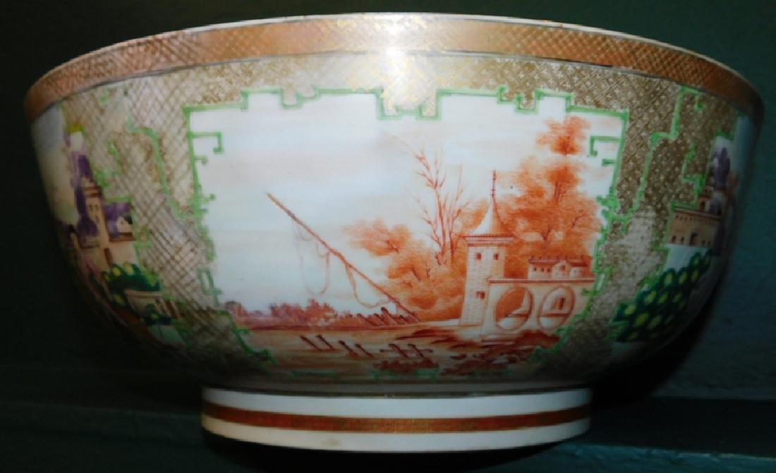 Mid 18th C Ching Dynasty Chinese export bowl - 7