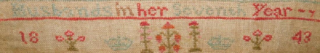 Needlework sampler,1843 Sarah Ann Husbands - 2