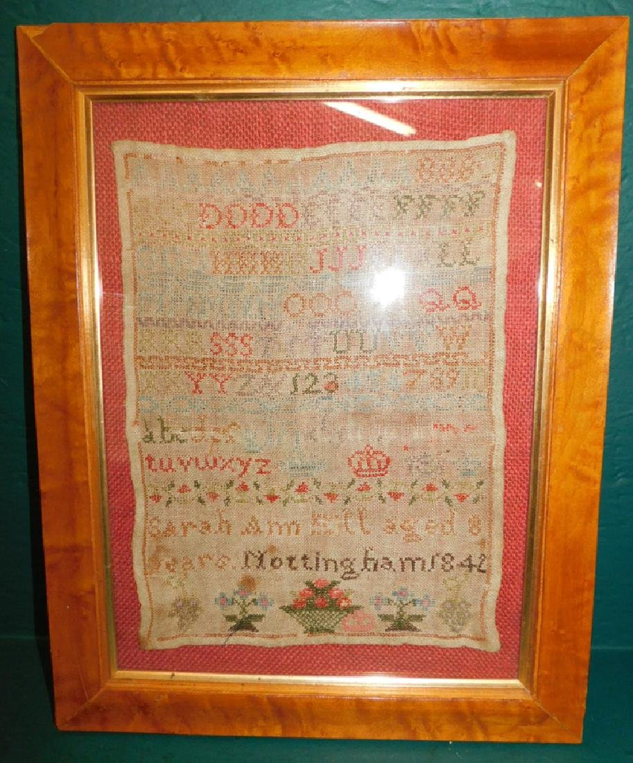 Needlework sampler,1842 by Sarah Ann Mkill