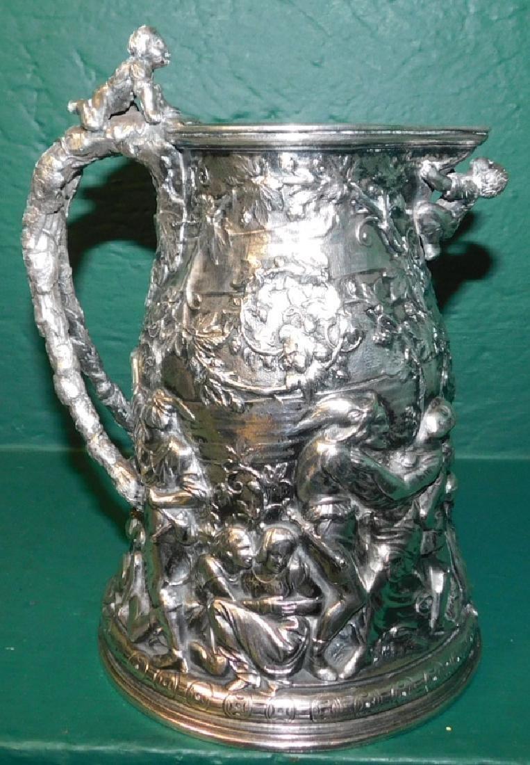 19th C sillver plate jug hallmaked Ceccarini