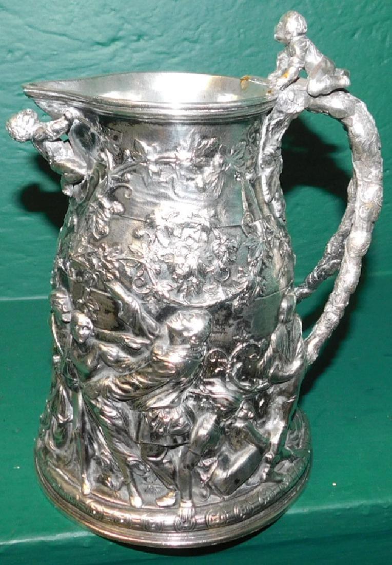 19th C sillver plate jug hallmaked Ceccarini - 3