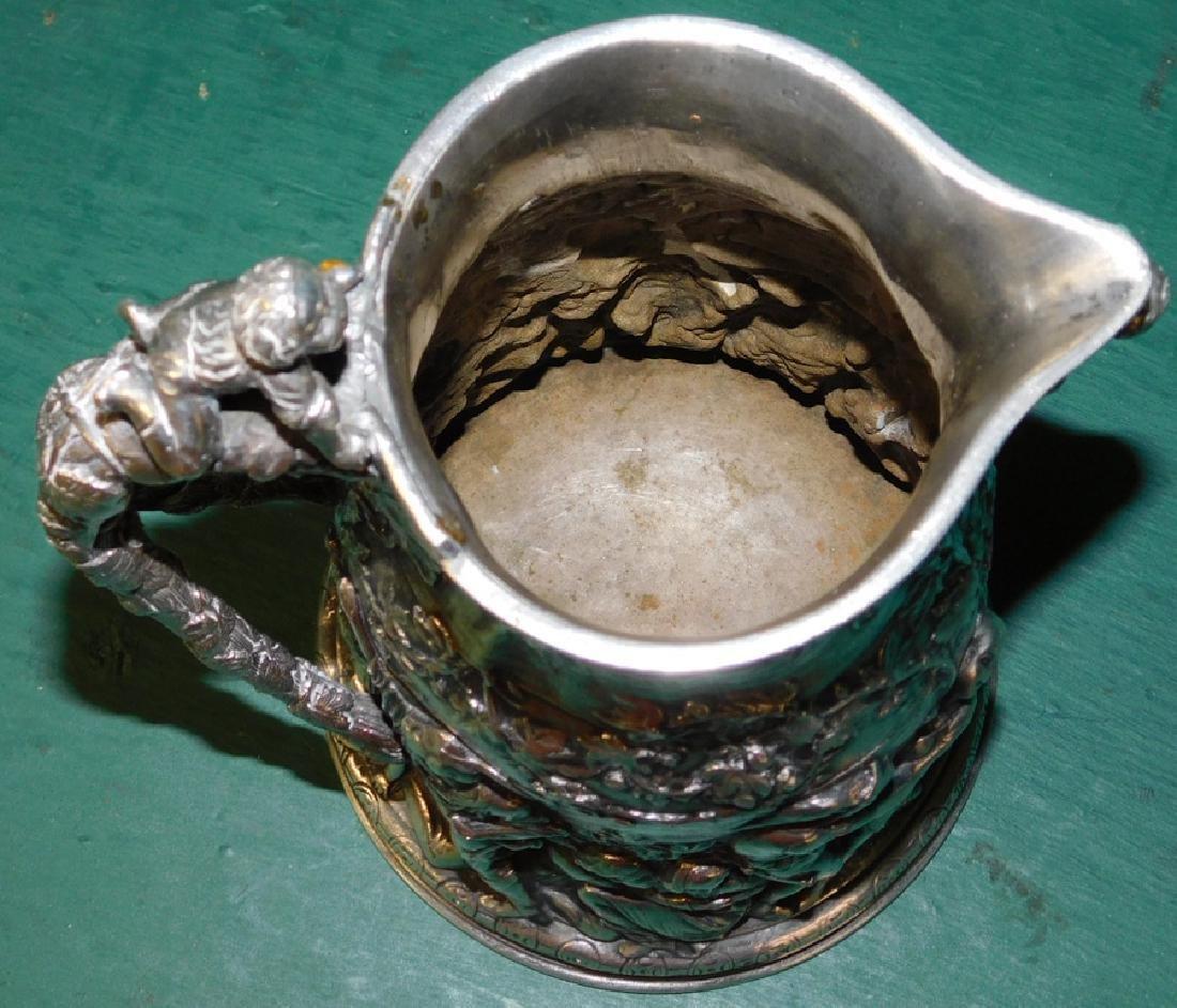 19th C sillver plate jug hallmaked Ceccarini - 5