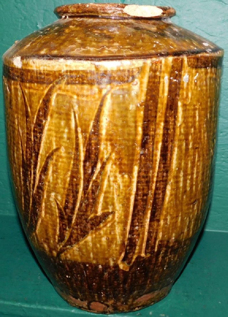 19th C slipware vase with bird motif - 3