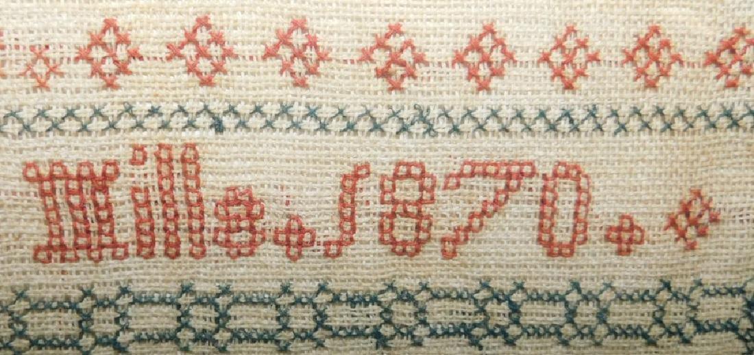 Needlework sampler by Rachel Mills - 1870 - 2