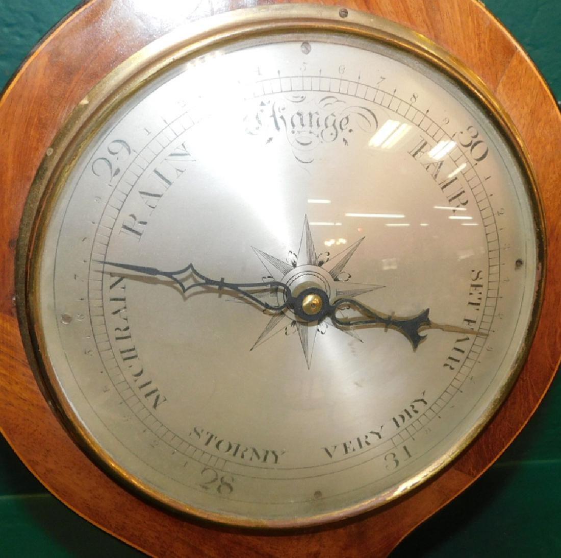 Inlaid Hepplewhite mahogany barometer - 2