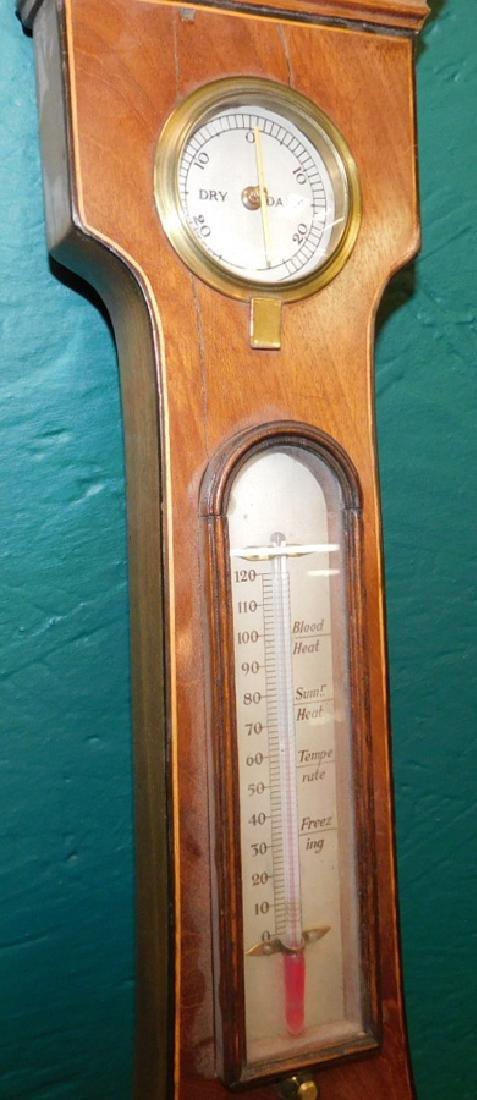 Inlaid Hepplewhite mahogany barometer - 3