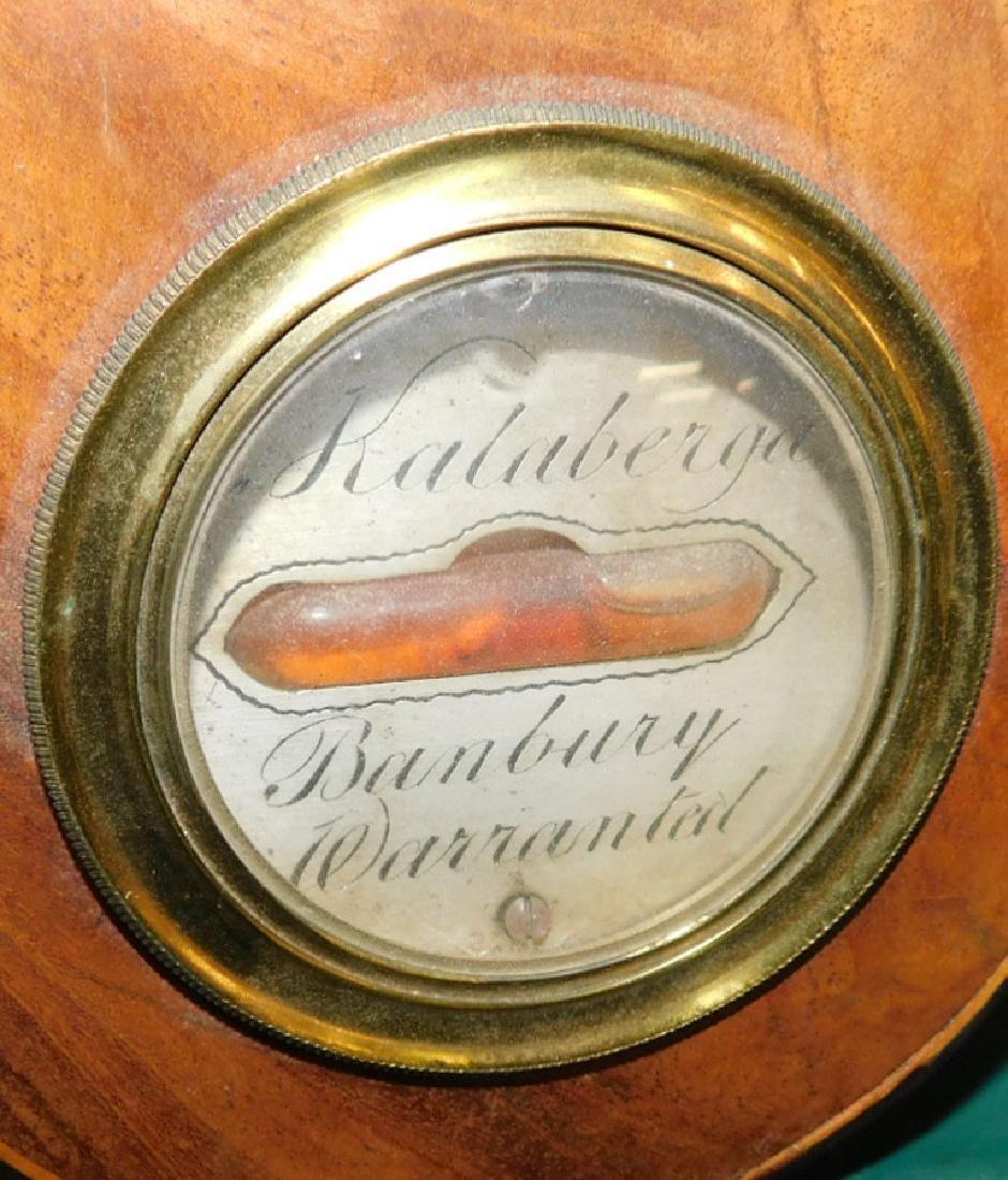 Inlaid Hepplewhite mahogany barometer - 4