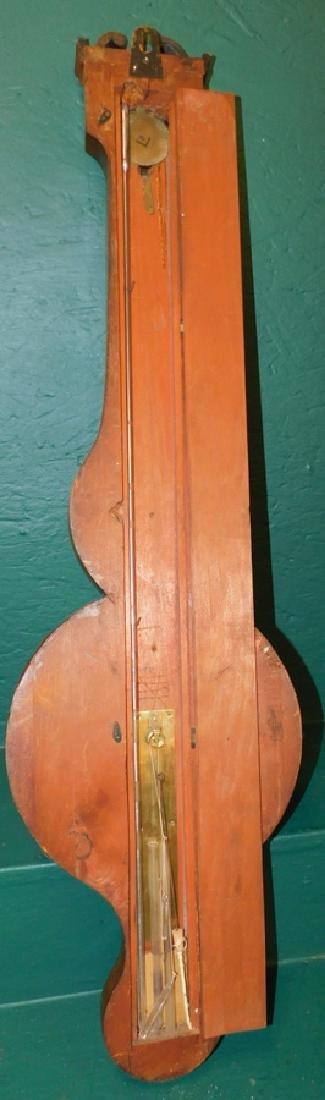 Inlaid Hepplewhite mahogany barometer - 5