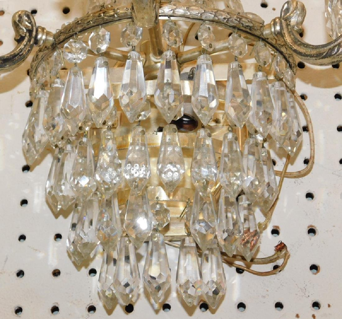 Pair of crystal wall sconces - 4