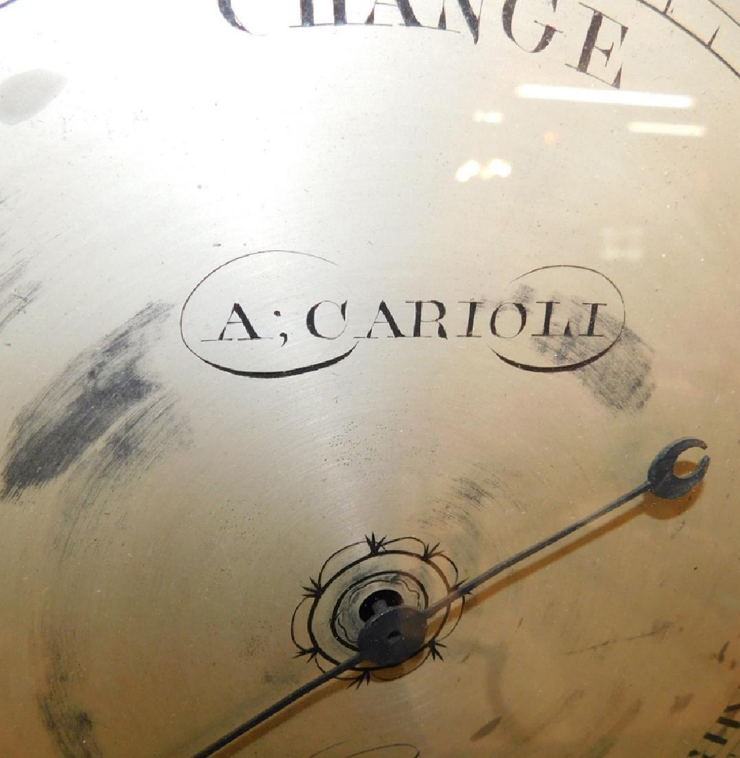 Inlaid Hepplewhite mah banjo shaped barometer - 4