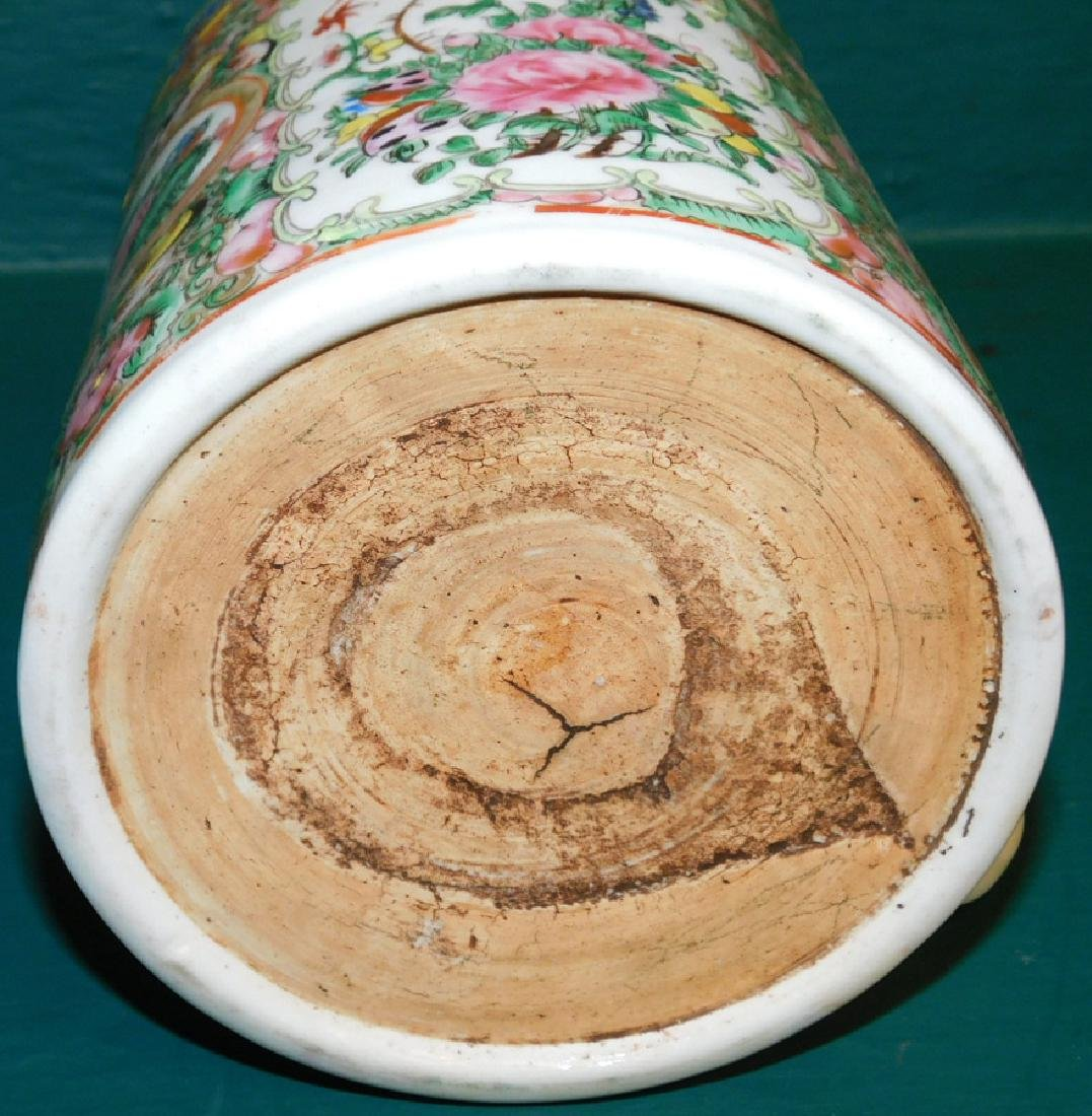 19th C large Rose Medallion cider mug - 5