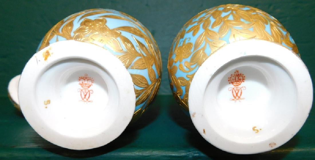 Pair of 19th C Crown Derby vases and covers - 3