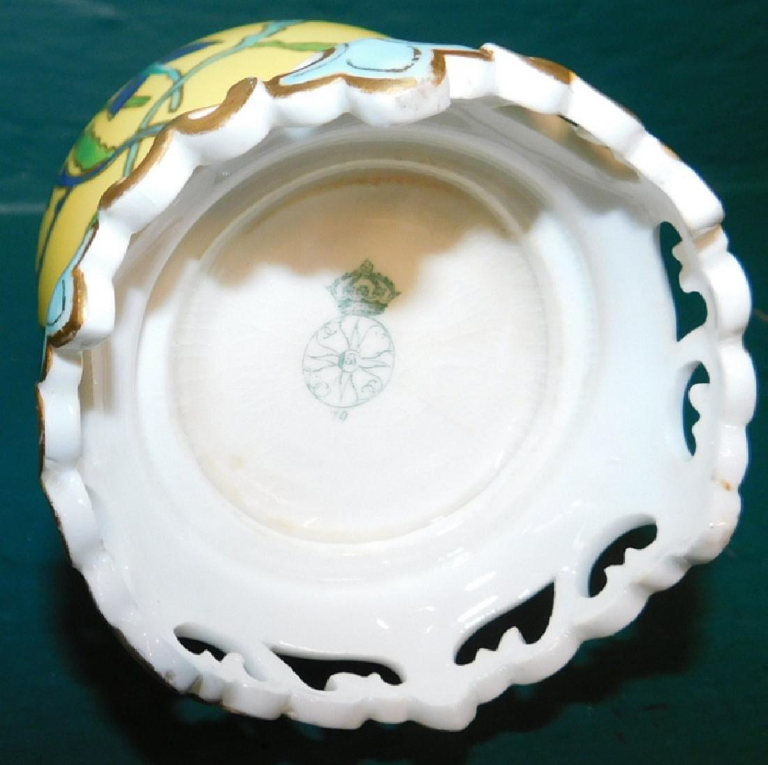 Bottle form Royal Worcester vase on stand - 3