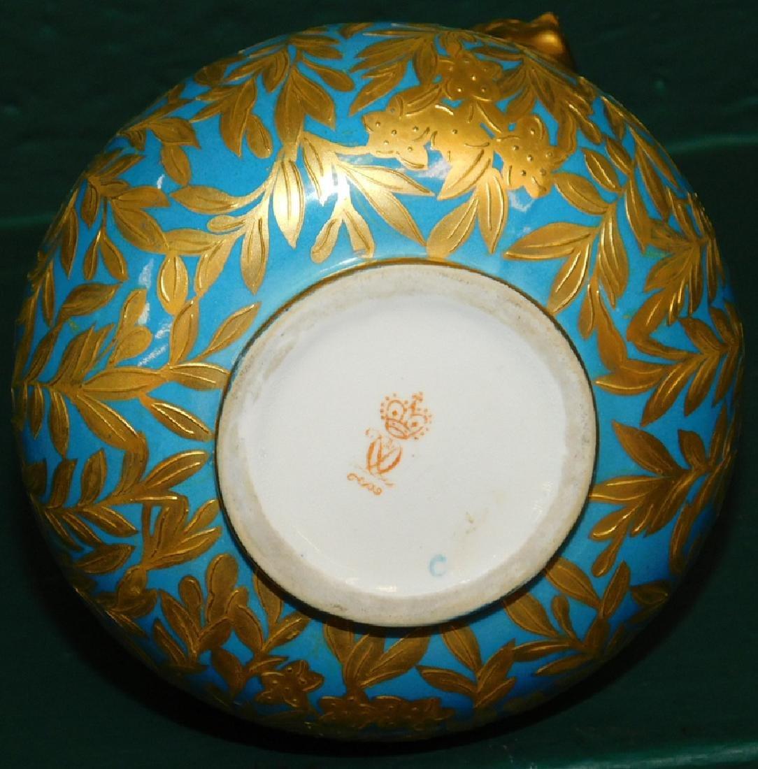 19th C Crown Derby 2 handled vase - 4