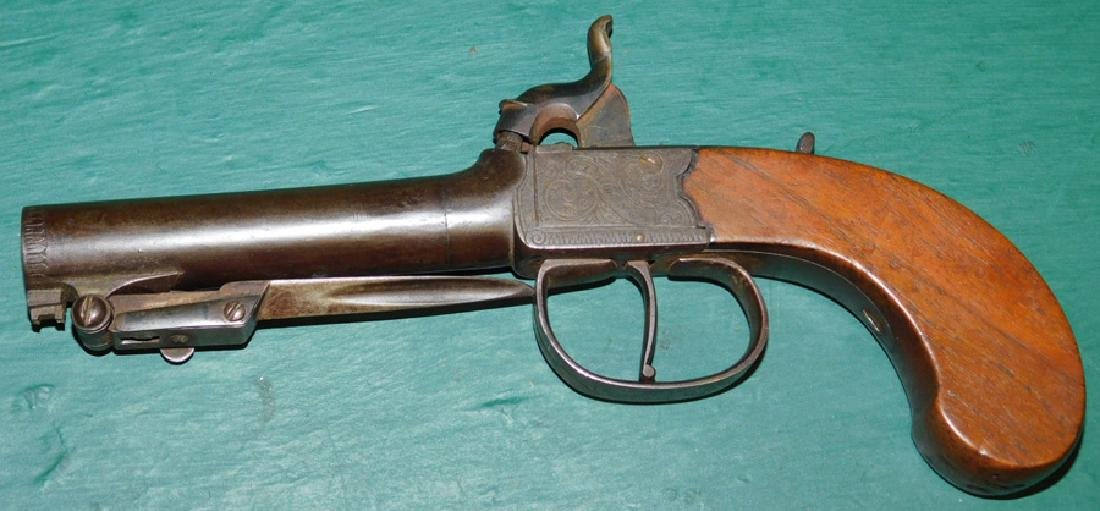 Signed C. F. Young Percussion pistol w/ bayonet