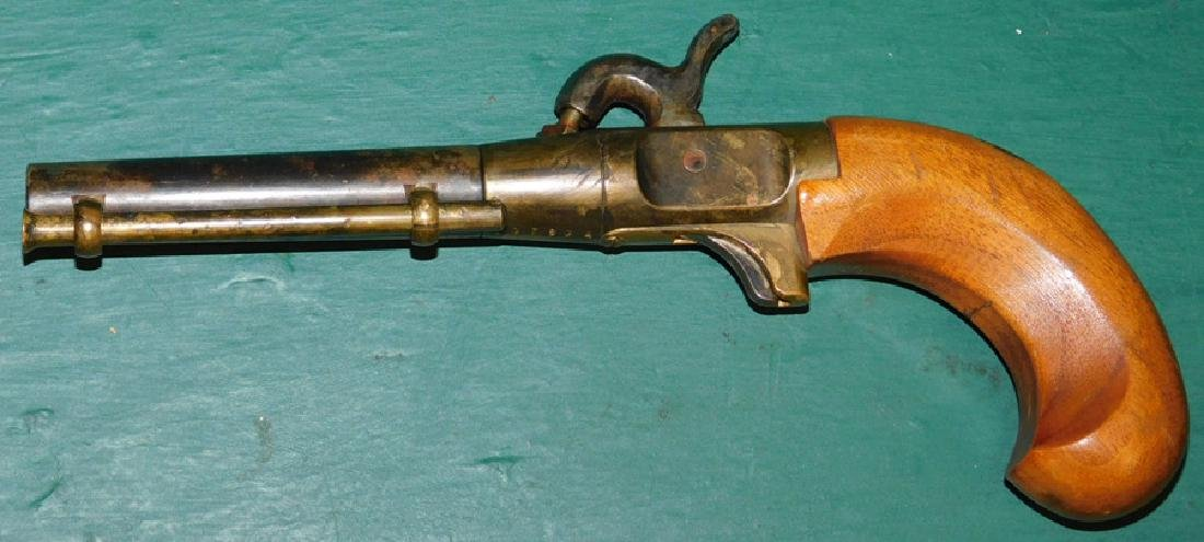 Percussion pistol w/ brass frame, not working