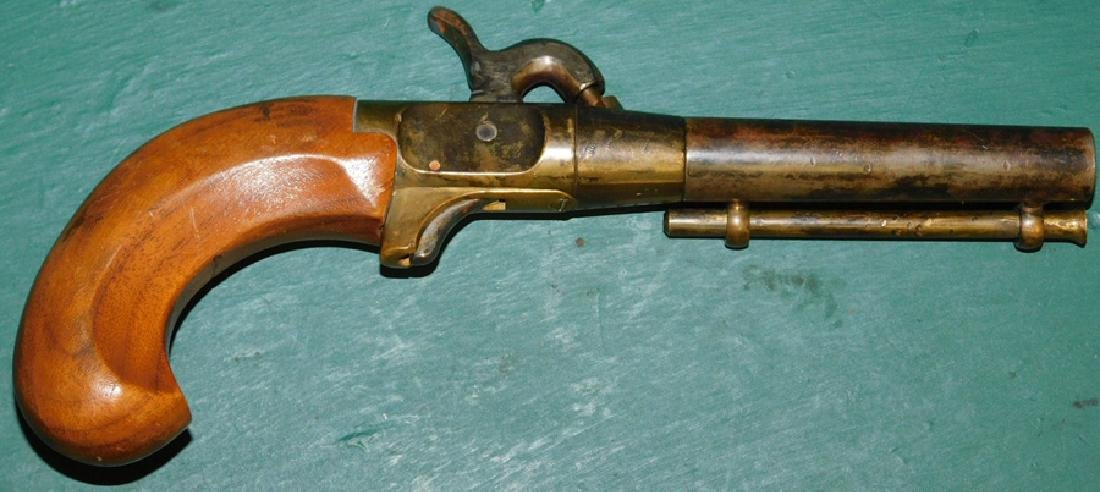 Percussion pistol w/ brass frame, not working - 2