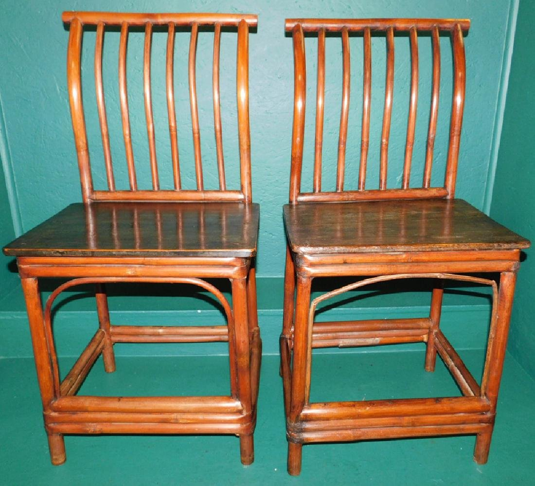 19th century oriental bamboo side chairs