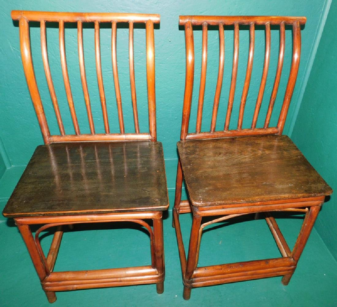 19th century oriental bamboo side chairs - 2