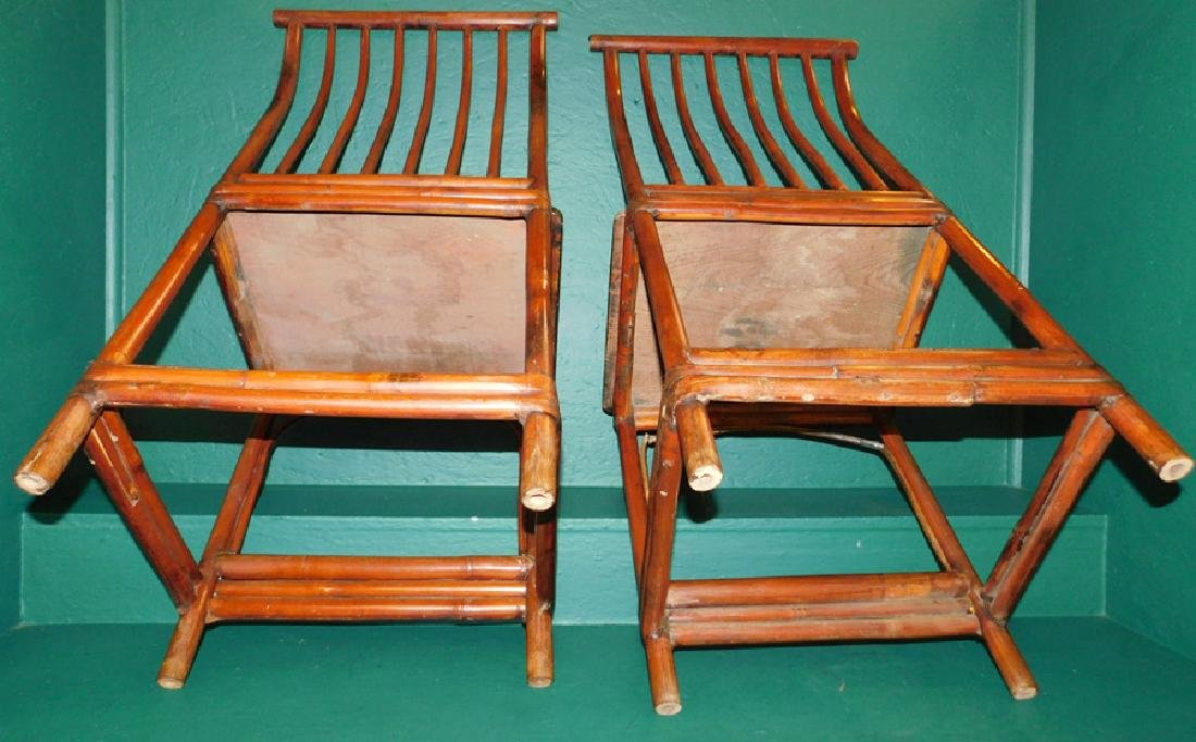 19th century oriental bamboo side chairs - 8