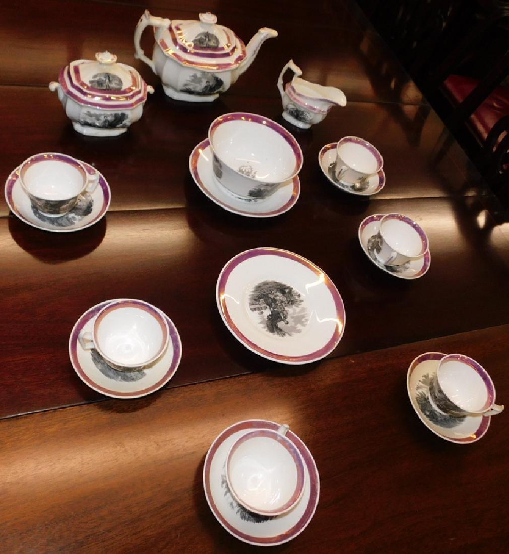 18 piece 19th C Staffordshire Newhall tea set