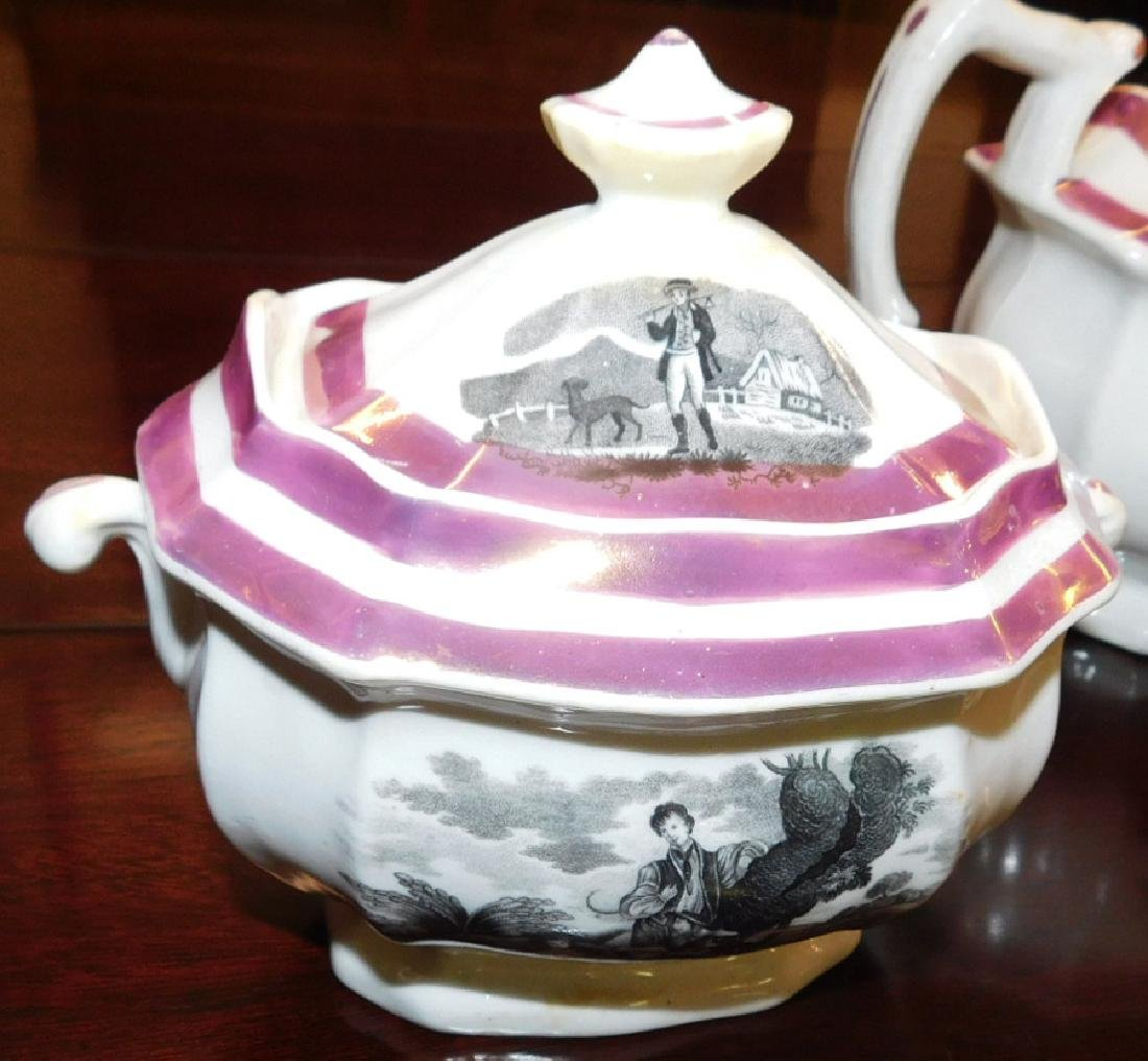 18 piece 19th C Staffordshire Newhall tea set - 2
