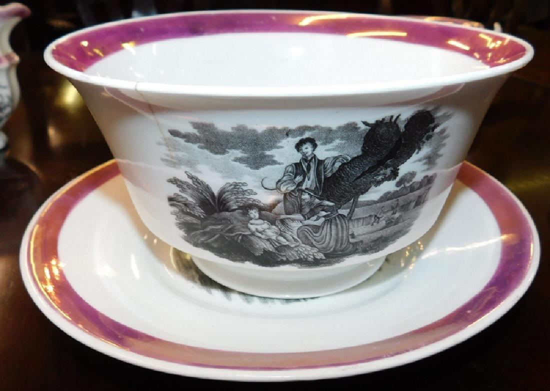 18 piece 19th C Staffordshire Newhall tea set - 3