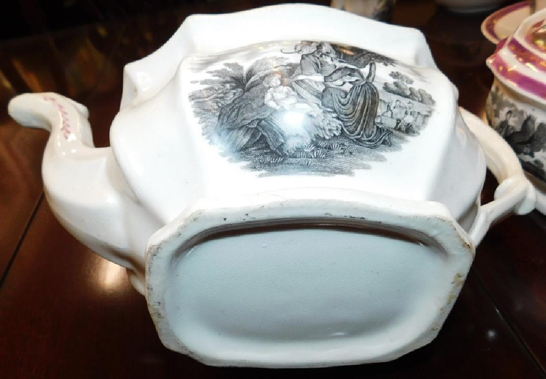 18 piece 19th C Staffordshire Newhall tea set - 5