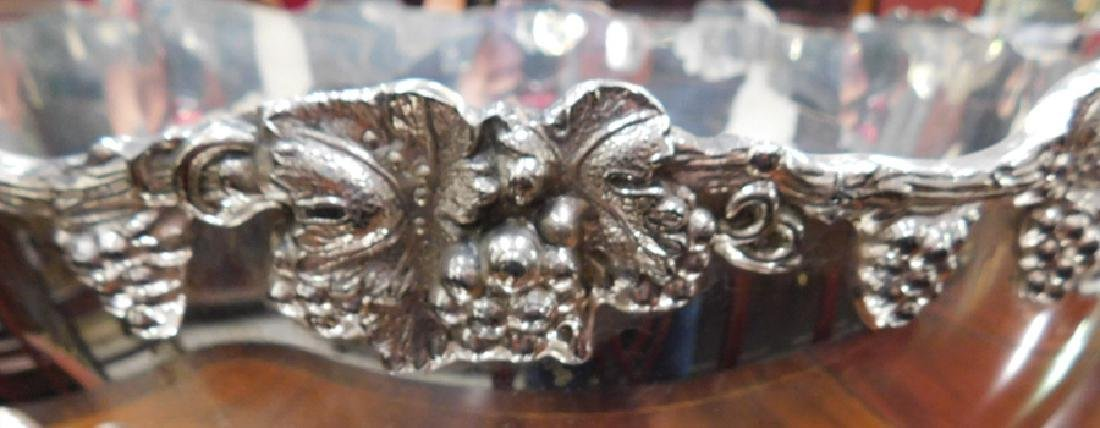 Silver on copper hallmarked punch bowl set - 5