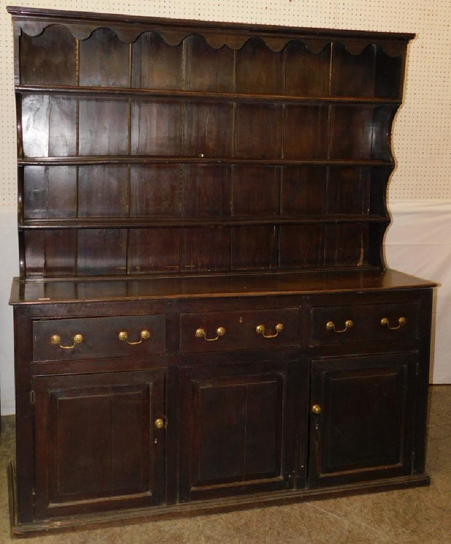 18th C English oak Welsh dresser