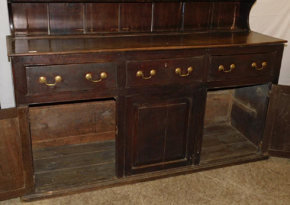18th C English oak Welsh dresser - 2