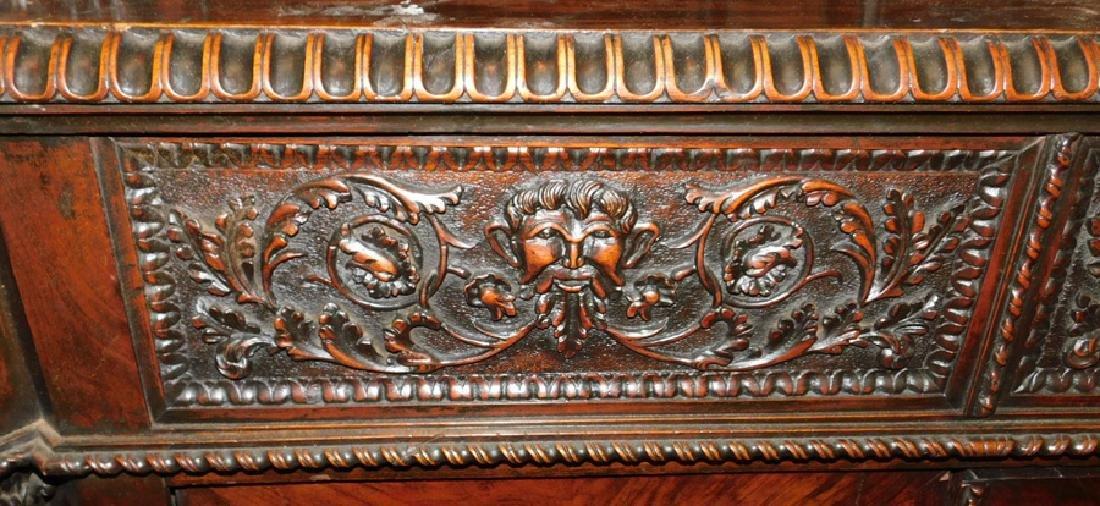 Ornate Italian walnut corner cupboard - 5