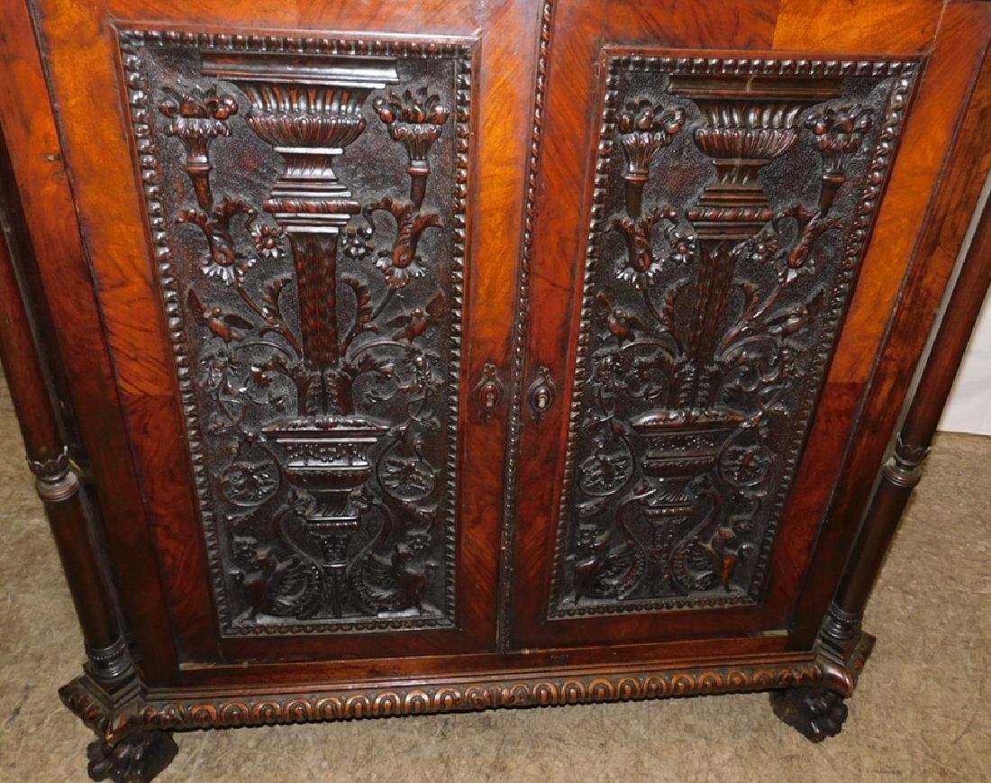 Ornate Italian walnut corner cupboard - 6