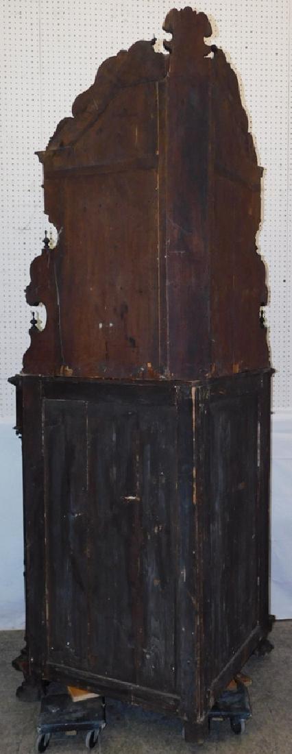Ornate Italian walnut corner cupboard - 8