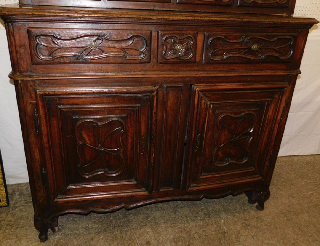 18th C carved front French Provincial cabinet - 2