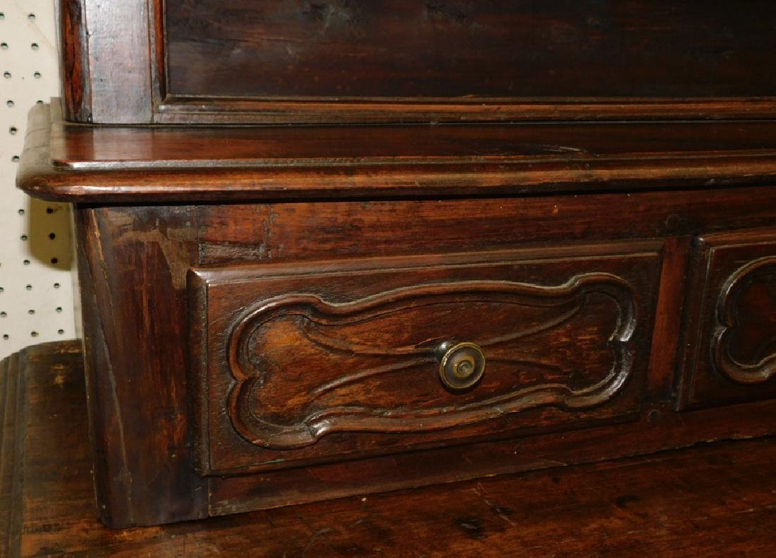 18th C carved front French Provincial cabinet - 4